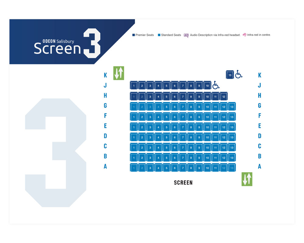 Odeon Seating Plan Print Design