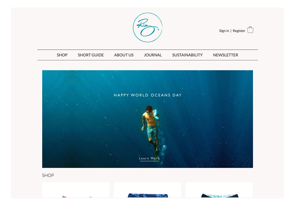 Riz Boardshorts Website