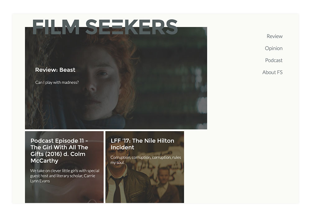 FilmSeekers Website